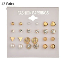 Load image into Gallery viewer, Women's Pearl Flower Crystal Earrings  for Girls