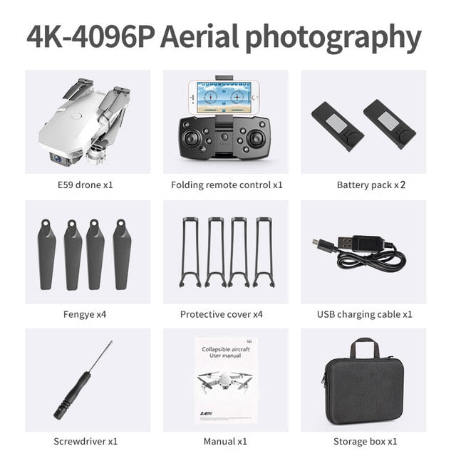 Drone 4K HD Camera Professional Aerial Photography Helicopter 360 Degree Flip WIFI
