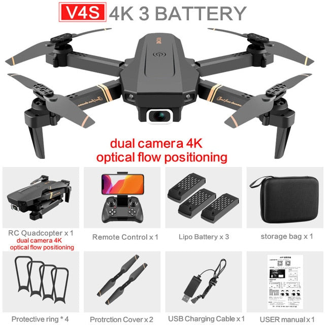 Drone 4k HD Wide Angle Camera 1080P WiFi  Helicopter Toys