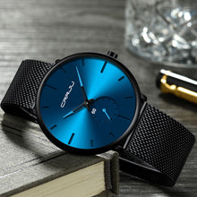 Load image into Gallery viewer, Fashion Mens Top Brand Luxury Quartz  Casual Slim Mesh Steel Waterproof Sport Watch