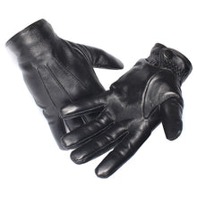 Load image into Gallery viewer, Winter Men  Leather Gloves