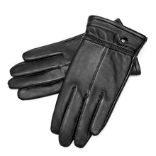 Load image into Gallery viewer, Men Genuine Sheepskin Leather Gloves Windproof