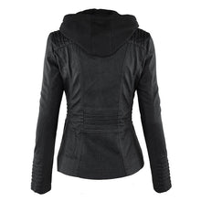 Load image into Gallery viewer, Women Autumn Winter Faux Soft Leather Jackets