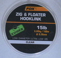 Fox Edges Zig & Floater Hooklink 15lb