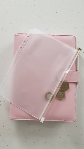 Planner Zip Pocket for A5 planners / organisers - plain