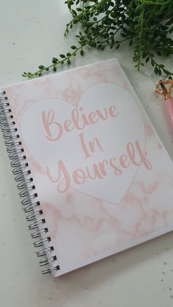 Slimming World Friendly Food Planner Diary or A5 Inserts, SW Diet Tracker Food Log, 8 Week or 12 Week Planner - Believe In Yourself