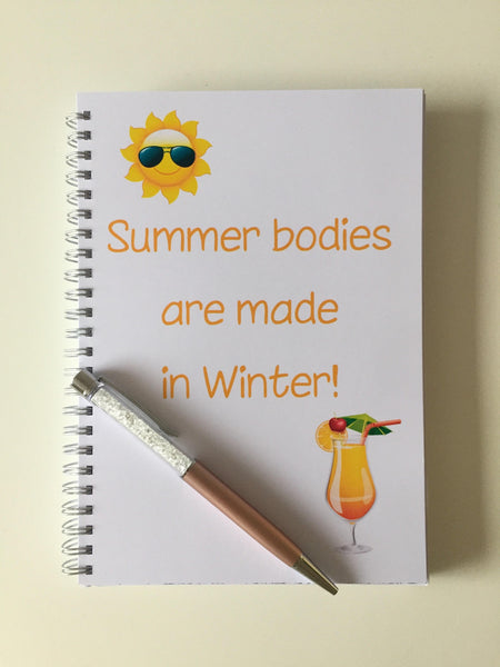 12 Week Food Diary - Spiral Bound or Inserts - Summer Bodies are Made in Winter