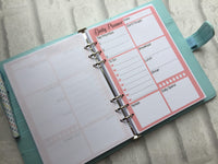 Daily Planner, To Do List - A5 Planner Inserts