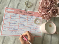A4 Hanging Meal Planner