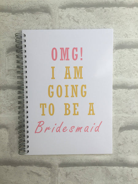 12 Week Food Diary - Spiral Bound or Inserts - OMG, I'm Going to be a Bridesmaid