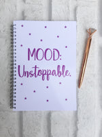 12 Week Food Diary - Spiral Bound or Inserts - Mood Unstoppable