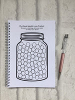 12 Week Food Diary - Spiral Bound or Inserts - Working On Myself