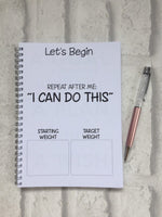 12 Week Food Diary - Spiral Bound or Inserts - I Can & I Will