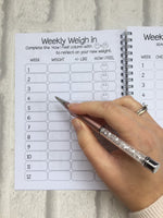 12 Week Food Diary - Spiral Bound or Inserts - She Believed She Could So She Did
