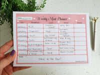 Meal Planner Notepad A5