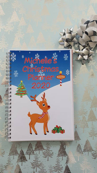 Christmas Planner Personalised, Christmas Budget Organiser A5