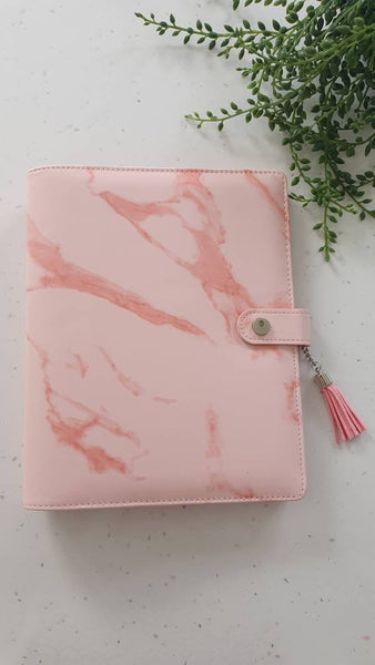A5 Pink Marble Planner Organiser Binder , COVER ONLY