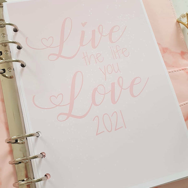 2021 Diary Insert Pages, Week to View - A5 Planner Inserts