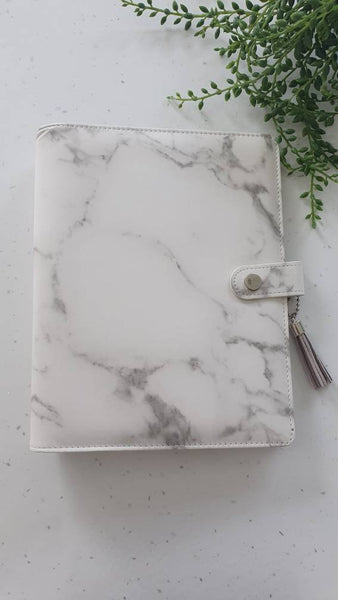 A5 Grey Marble Planner Organiser Binder, COVER ONLY