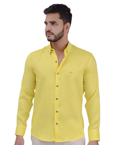 CAMISA NATURAL MEN AMARILLA