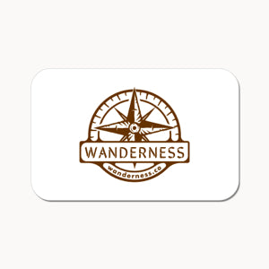 WANDERNESS Gift Card for exquisite candles, inspired by travel.