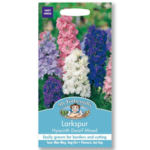 Load image into Gallery viewer, LARKSPUR <br>Hyacinth Dwarf Mixed