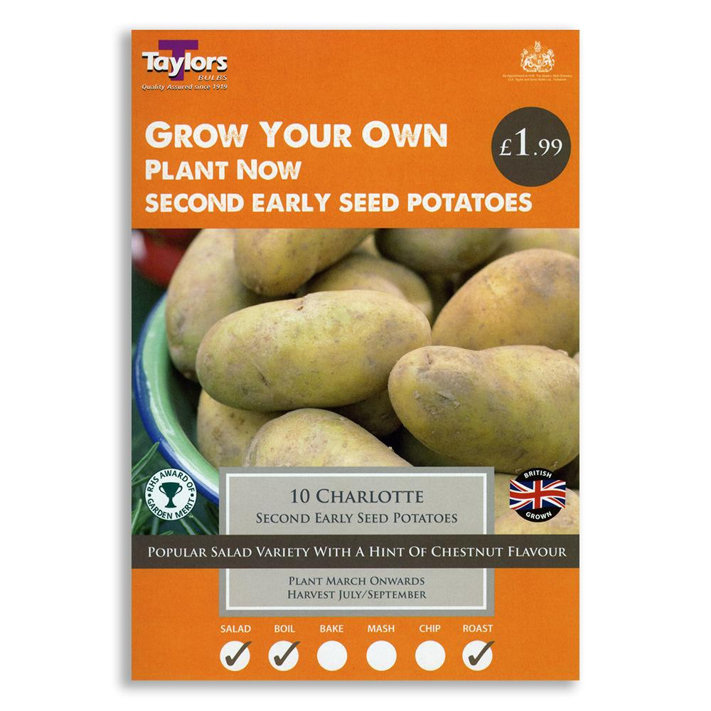 Second Early <br>Seed Potatoes <br>Taster Pack <br>Charlotte
