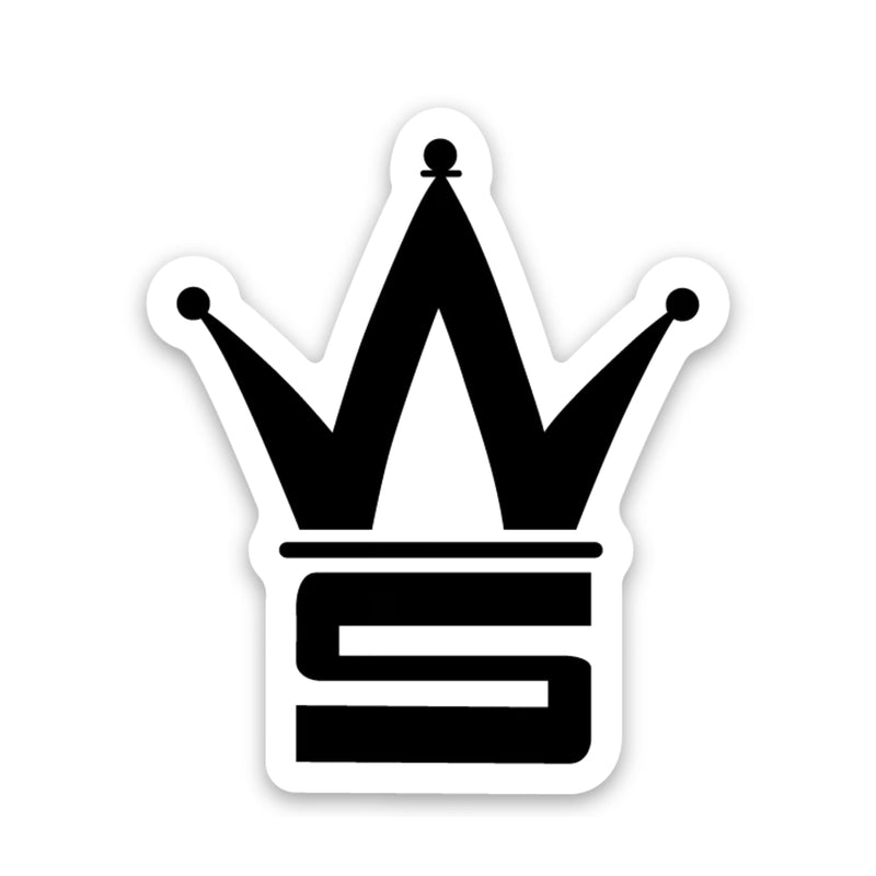 Crown Black Sticker