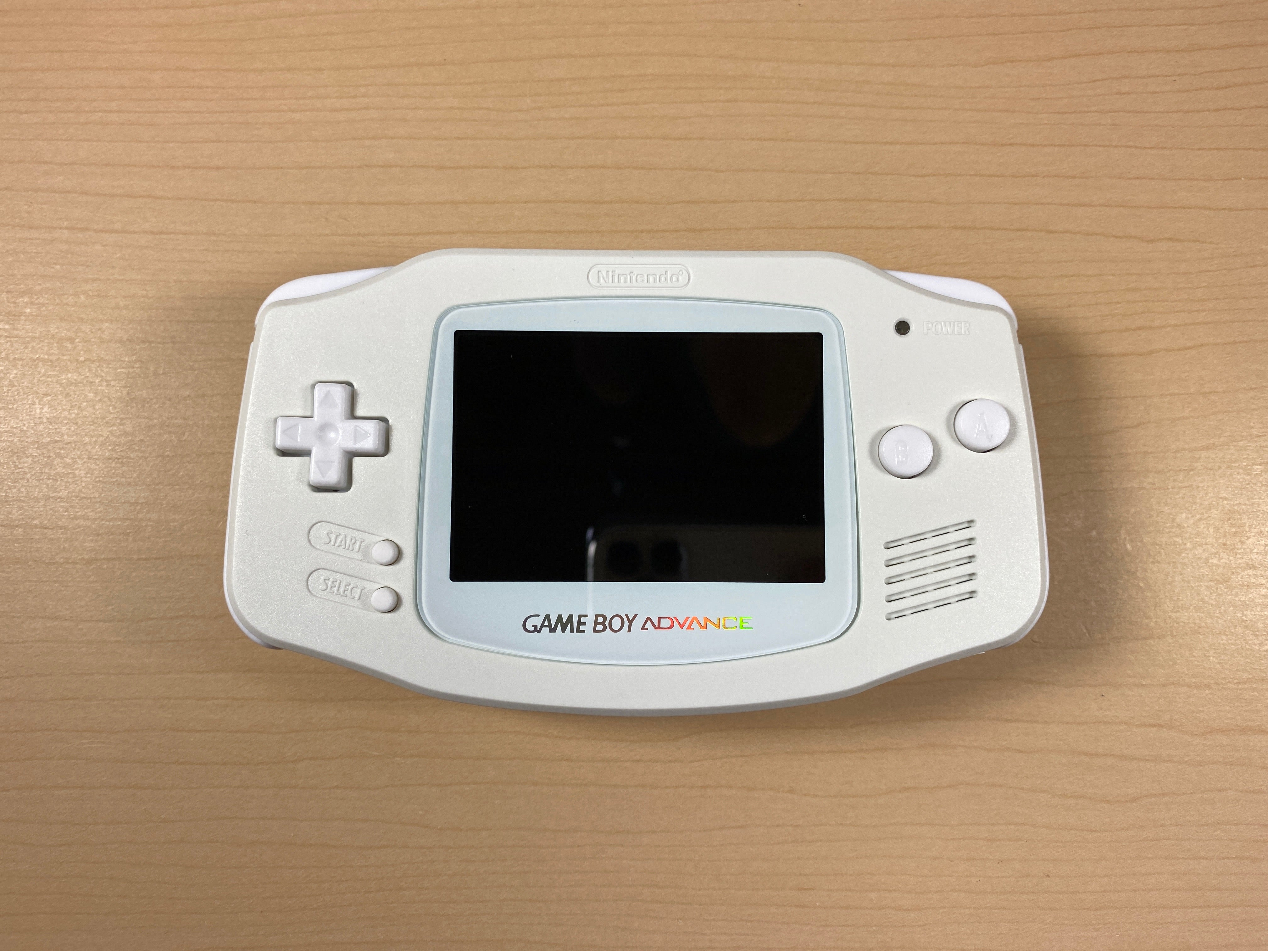 Modded Game Boy Advance W/ IPS Screen (All White)
