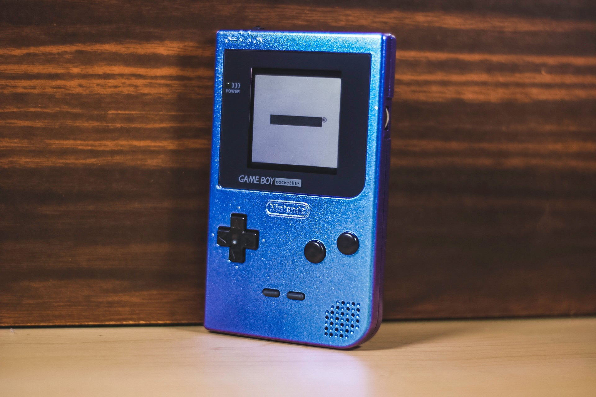 Modded GameBoy Pocket w/ TFT Display (Pearlescent Blue/Purple)