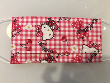 "Charger l'image dans la galerie, Masque adulte ""Hello Kitty"" fait main en coton"