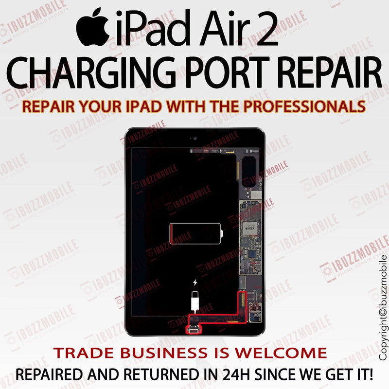 iPad Air 2 Charging Port Flex Repair Service Not Charging Lose Connector Replace