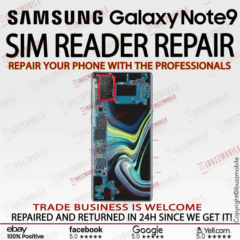 Samsung Galaxy Note 9 G960F Sim Reader Slot Replacement Service