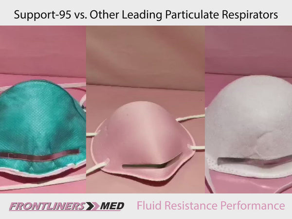 Support-95 Particulate Respirator, Warrior Pink Color (10 masks/box) + 1 mask donated