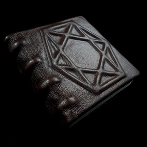 Geometric Brown Leather Book