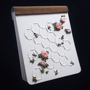 Embroidered Hard Cover Notebook