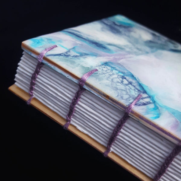 Marbled Resin and Birch Sketchbook