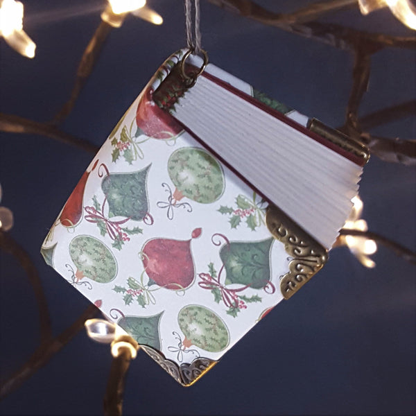 Holiday Miniature Book Ornament