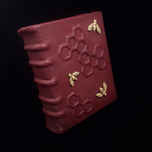 Red Leather Bee Keepers Journal