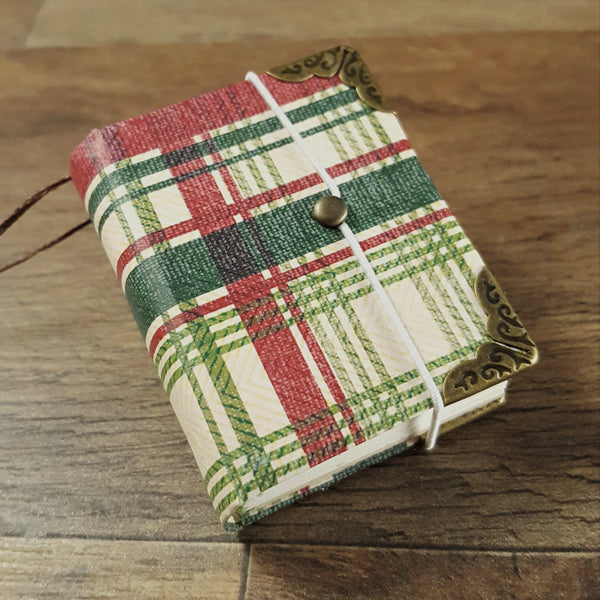 Plaid Miniature Book Ornament