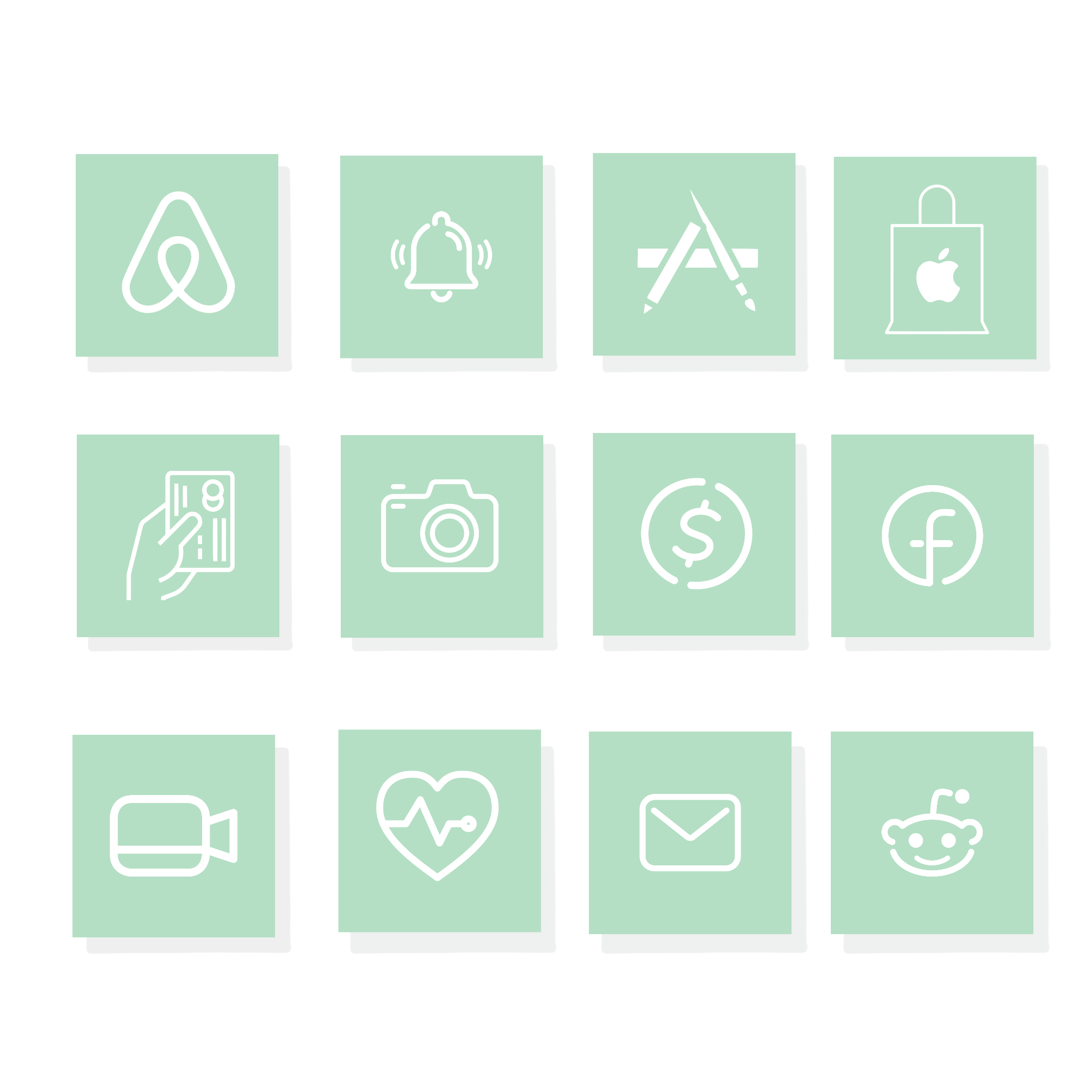Mint Green Ios App Icons Minimalist Icons
