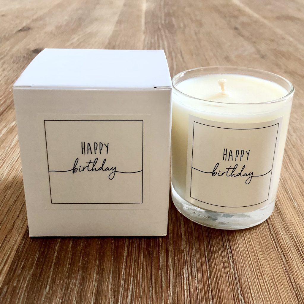 Happy Birthday Scented Soy Wax Candle