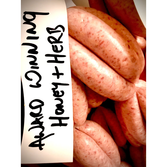 Honey & Herb Pork Thick Sausage - Multi Award Winning