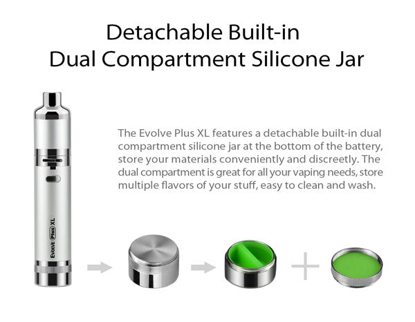 Yocan Evolve Plus XL Vaporizer Pen - Silicon Jar