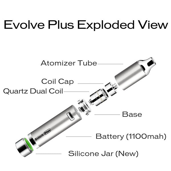 Yocan Evolve Plus Vaporizer - Best Wax Pen by Yocan - Exploded View
