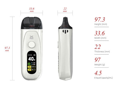 SMOK POZZ X Vape Device Features and Specifications: