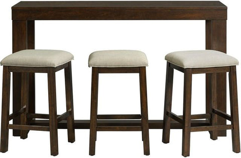 Hardy Cherry 4 Piece Bar Table Set