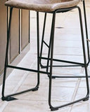 Wes Brown/Grey Counter Height Bar Stool set of 2