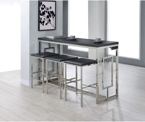 Ezra 4 Piece Cappuccino Multipurpose Bar Table Set