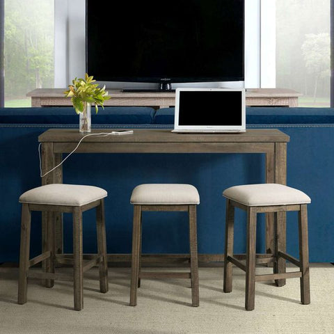 Stone 4 Piece Gray Multipurpose Bar Table Set